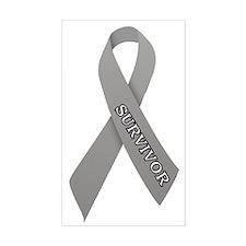 Gray Ribbon 'Survivor' Decal