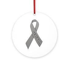 Gray Ribbon 'Survivor' Ornament (Round)