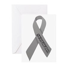 Gray Ribbon 'Survivor' Greeting Cards (Pk of 10)
