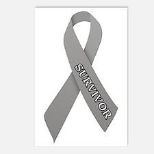 Gray Ribbon 'Survivor' Postcards (Package of 8)