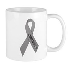 Gray Ribbon 'Survivor' Mug