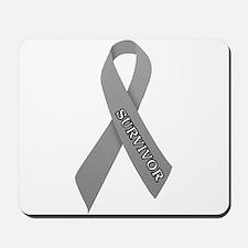 Gray Ribbon 'Survivor' Mousepad