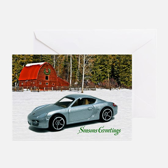 Silver Toy Car Greeting Cards (Pk of 20)