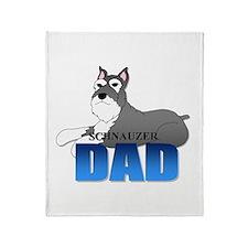 Schnauzer Dad Throw Blanket