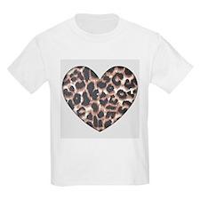 Leopard Print Heart T-Shirt