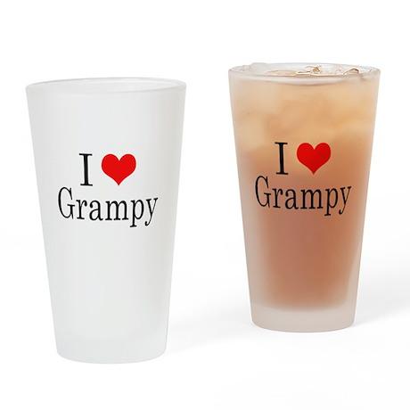 I Love Grampy Drinking Glass