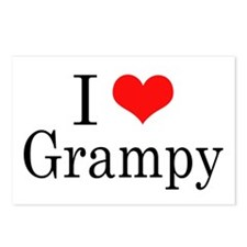I Love Grampy Postcards (Package of 8)