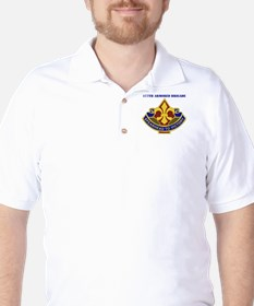 DUI - 177th Armored Brigade with Text Golf Shirt