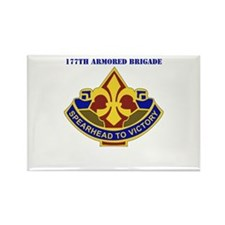 DUI - 177th Armored Brigade with Text Rectangle Ma