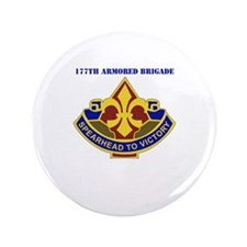 """DUI - 177th Armored Brigade with Text 3.5"""" Button"""