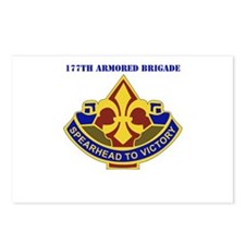 DUI - 177th Armored Brigade with Text Postcards (P