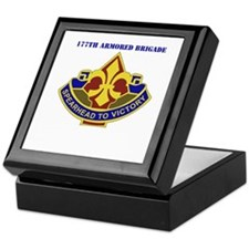 DUI - 177th Armored Brigade with Text Keepsake Box