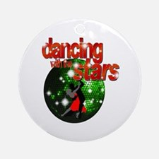 Dancing with the Stars Green Ornament (Round)
