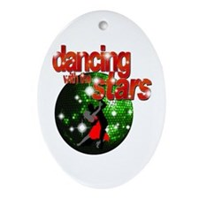 Dancing with the Stars Green Ornament (Oval)