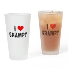I Love Grampy -2- Drinking Glass