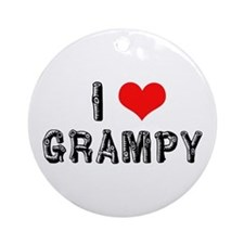 I Love Grampy -2- Ornament (Round)
