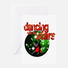 Dancing with the Stars Green Greeting Card