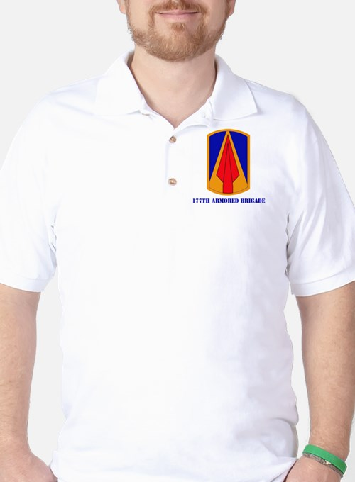 SSI - 177th Armored Brigade with text Golf Shirt
