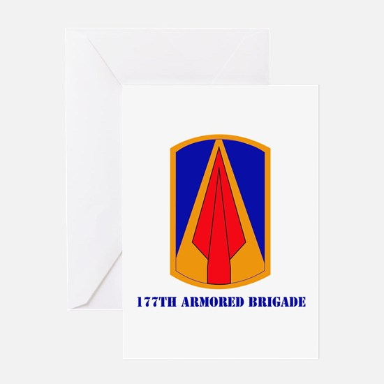 SSI - 177th Armored Brigade with text Greeting Car