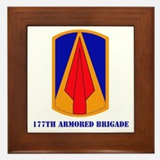 SSI - 177th Armored Brigade with text Framed Tile