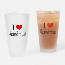 I Love Grandmum Drinking Glass