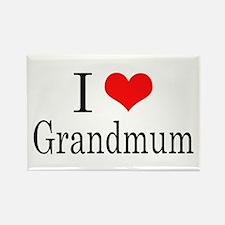 I Love Grandmum Rectangle Magnet