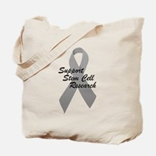 Gray Ribbon Support Stem Cell Research Tote Bag