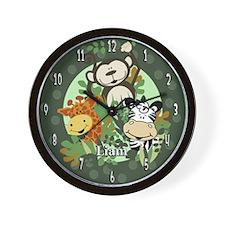 Zoo Crew Wall Clock - Liam