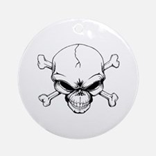 Skull and Crossbones Ornament (Round)