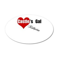 Personalizable Castle's Gal 22x14 Oval Wall Peel