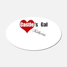 Personalizable Castle's Gal 22x14 Oval Wall Peel