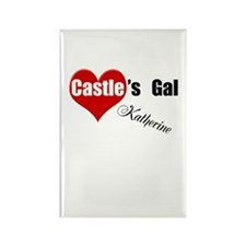 Personalizable Castle's Gal Rectangle Magnet