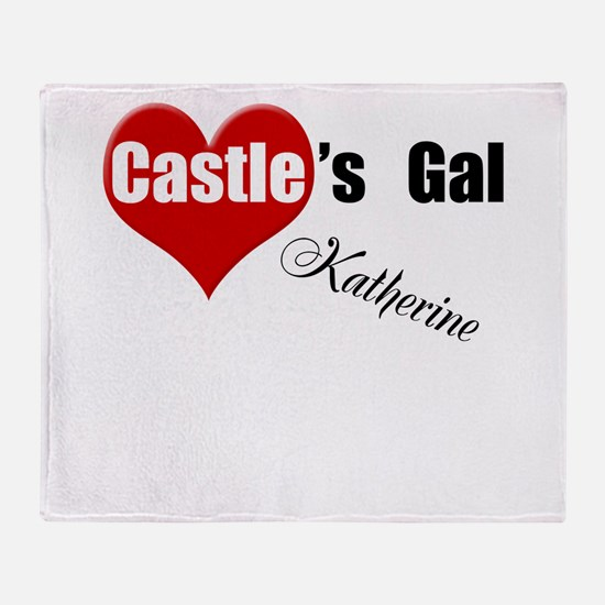 Personalizable Castle's Gal Throw Blanket