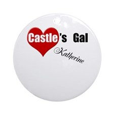 Personalizable Castle's Gal Ornament (Round)