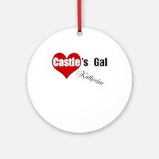 Personalizable Castle's Gal Ornament (Round)