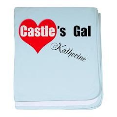 Personalizable Castle's Gal baby blanket