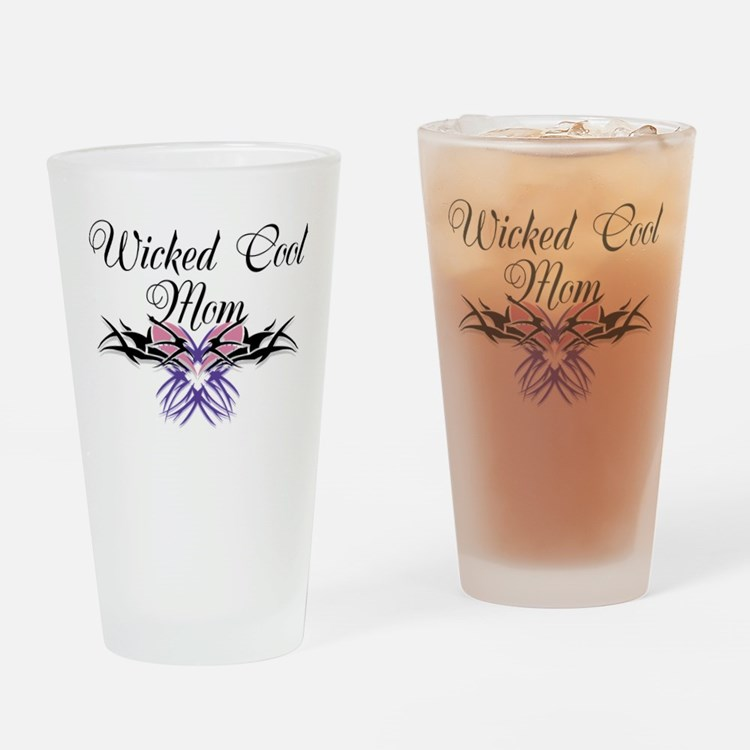 Wicked Cool Mom Drinking Glass