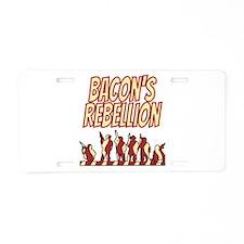 Bacon's Rebellion Aluminum License Plate