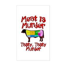 Meat is Murder. Tasty, Tasty Murder. Decal