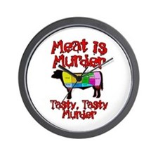 Meat is Murder. Tasty, Tasty Murder. Wall Clock