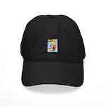 Flirt Vintage Pin Up Girl Warming Up Black Cap