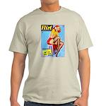 Flirt Vintage Pin Up Girl Warming Up Light T-Shirt