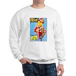 Flirt Vintage Pin Up Girl Warming Up Sweatshirt