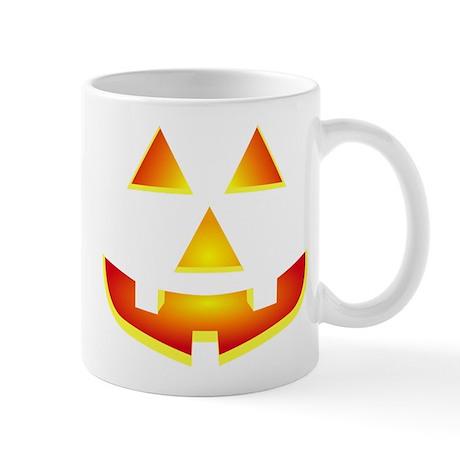 Jack 'O Lantern Pumpkin Glowing Face Mug