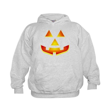 Jack 'O Lantern Pumpkin Glowing Face Kids Hoodie