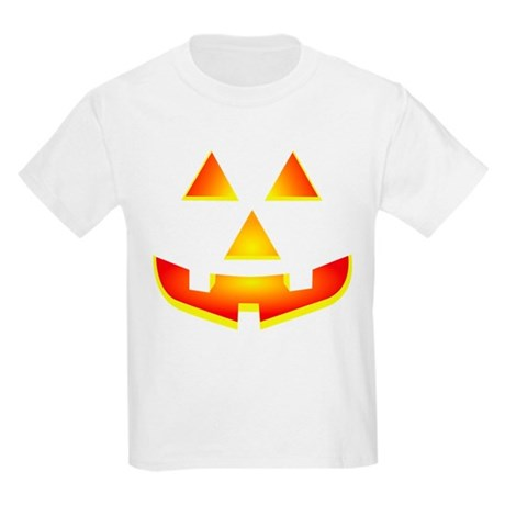 Jack 'O Lantern Pumpkin Glowing Face Kids Light T-