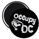Occupy DC Magnet with Raised Fist