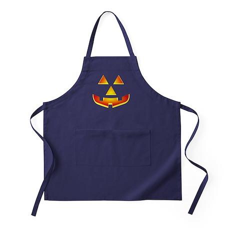 Jack 'O Lantern Pumpkin Glowing Face Apron (dark)