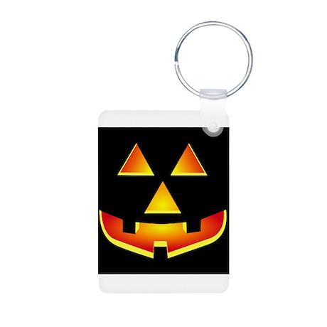 Jack 'O Lantern Pumpkin Glowing Face Aluminum Phot