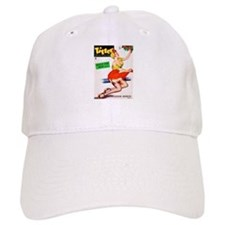 Titter Vintage Pin Up Girl in Red Baseball Cap